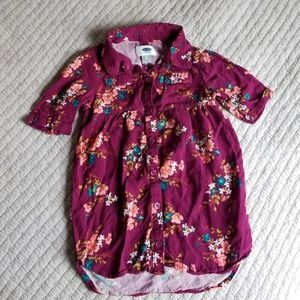 Old Navy Floral Dress/Tunic 3T